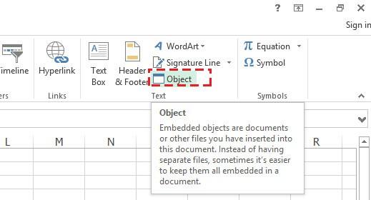 วิธีแทรก(insert) PDF ไฟล์ลงใน Microsoft Excel 2013